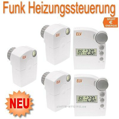 funk elektronik thermostat heizung ventil haus regler fht8 heizk rperthermostat eur 269 00. Black Bedroom Furniture Sets. Home Design Ideas