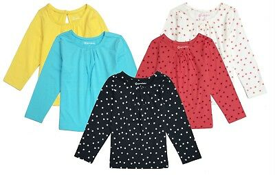 NWT Long Sleeve Baby Girl Top Tee Shirt Cotton Toddler Infant Girls 2t 3t 12 New