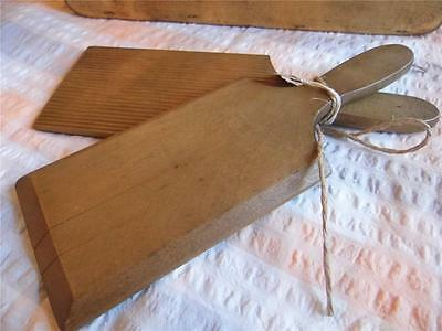 1Vintage Pair Of Wooden Butter Pats With Ridged Detailfab Display Kitchenalia