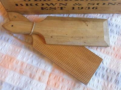 4) Vintage Pair Of Wooden Butter Pats With Ridged Detailfab Display Kitchenalia