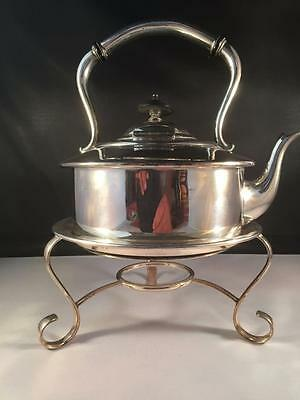 Vintage Silver Plated Spirit Kettle With Stand Nice Shape
