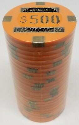 Poker Chips (25) $500 Nevada Club 15 gram Clay Composite FREE SHIPPING *