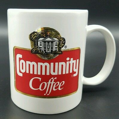 Community Coffee Advertising Collectible Cup Mug Red White
