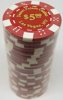 1000 25 Cent 11.5 g Clay Composite Desert Palace Poker Chips