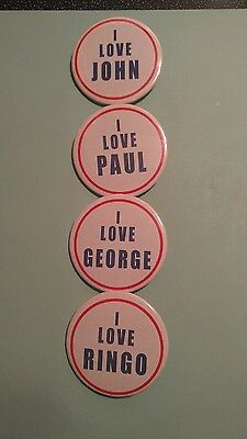 "Beatles: Reproduction 1960S ""love""badges Pinback Button"