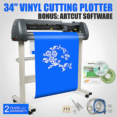 "34"" Vinyl Cutting Plotter Cutter Printer Artcut Software Contour Cutting Sticker"