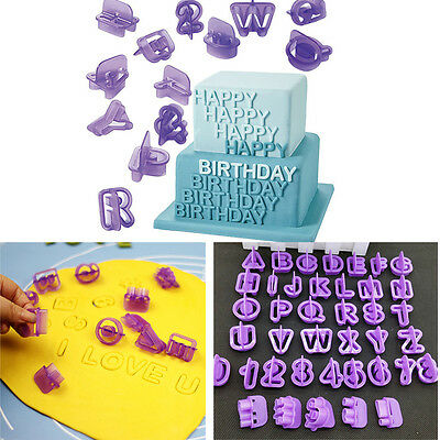 40xAlphabet Letter Number Cake Fondant Decor Biscuit Cookie Cutter Birthday Mold