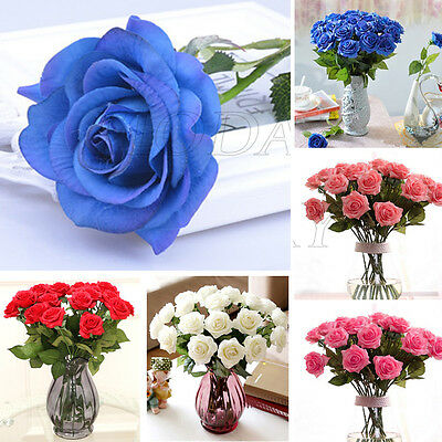 20x Real Latex Touch Rose Flowers For wedding And Home Design Bouquet Decor New