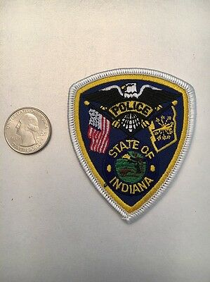 State Of Indiana Police Department Patch Unknown City Small Size In