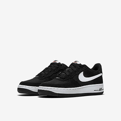 GS 596728-016 Nike Air Force 1 Low Black//White-Gym Red Sizes 4-7 New In Box