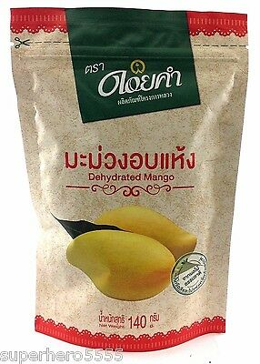 Dehydrated Mango 140 g. Dried Sweet Thai Natural Fruit Garden Camping Snack Food