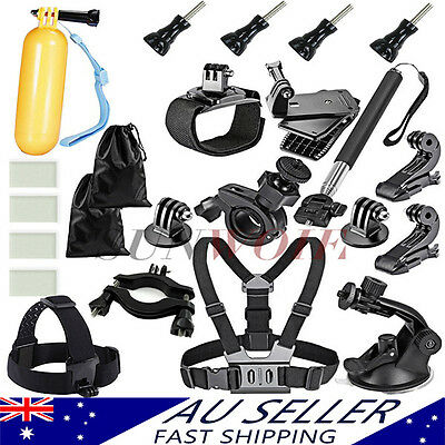 AU Go Pro Accessories Pack Monopod for gopro Hero 4 3+ 2 1 5 3 Camera