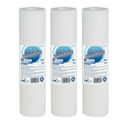 "3pk 20 Micron Sediment Water Filter 10"" ideal for Reverse Osomosis"
