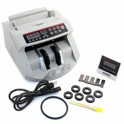 Professional Currency Bill Money Cash Counter Counting Machine Bank Sorter UV MG