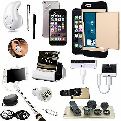 Card Pocket Case Charger Earphones Monopod Lens Accessory For iPhone 7 Plus
