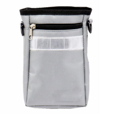 Portable Pet Training Food Snack Holder Pouch Dog Treat Bag w/ Belt Grey