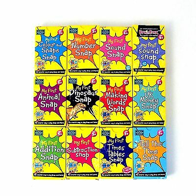 My First Brainbox Snap Card Game Age 3+ Words Numbers Colour Time Memory Pairs