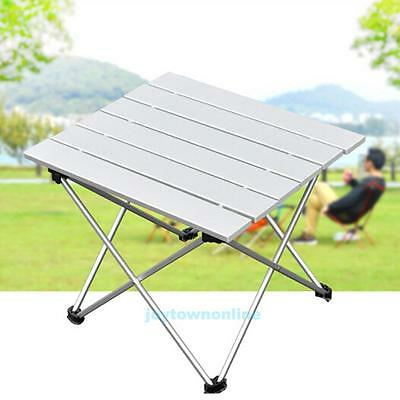 Portable Folding Aluminum Rolling Table with Bag for Camping Picnic Traveling