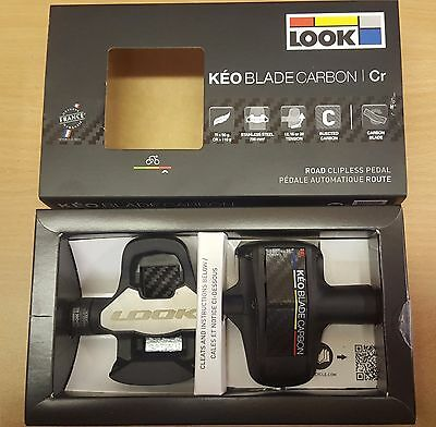 Look Keo Blade Carbon Cr 16 Road Bike Cycling Pedals With Cleats - Clearance
