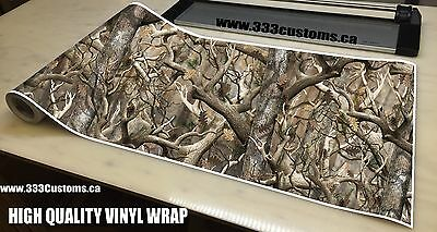 "MATTE CAMO ROLL 10 FEET VINYL WRAP ATV GEAR TRUCK HUNTING TREE 24"" Roll C3m"