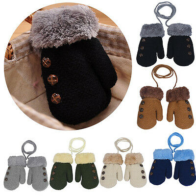 Baby Girls Boys Kids Childrens Winter Magic Mittens Gloves Warm Winter Strechy W