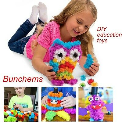 DIY kid's education toys Bunchems 50pcs magic toys Mega pack squish baby gifts