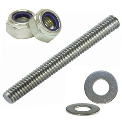 M24 Threaded Rod Bar Stainless Steel Studding A2 Fully Threaded (Value Pack)