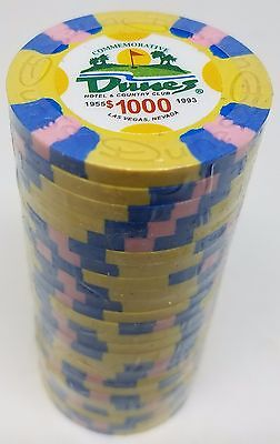Poker Chips (25) $1,000 Dunes Commemorative 9 gram Clay Composite FREE SHIPPING*