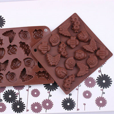 Silicone Insect Butterfly Candy Chocolate Mould Cake Decorating Sugar Jelly Mold