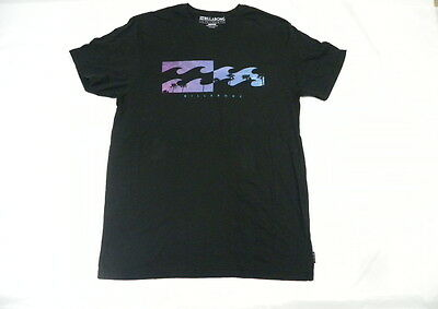 Billabong Men Sky View Black T Shirt Sz Large Tee