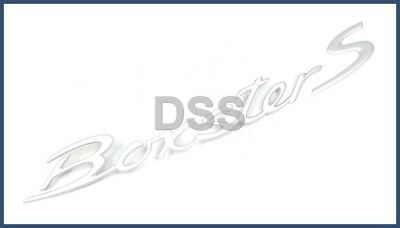 "New Genuine Porsche ""Boxster S"" Emblem Satin Silver Finish + 1 Year Warranty"