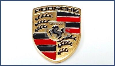 Genuine Porsche Key Fob Replacement Colored Crest (Small) NEW 99663744300