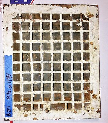 Antique Vintage Wall Grate Heat Air Return Register Vent Cast Iron Salvage #27