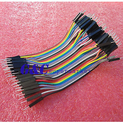 1/2/5/10pcs Dupont wire jumpercables 10cm 2.54MM male to male 1P-1P J15