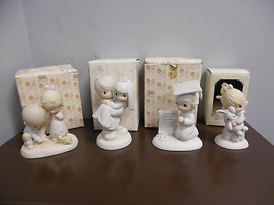 Lot of 4 Precious Moments Figurines W/ Box