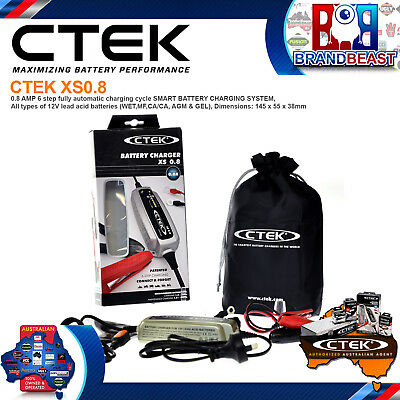 Ctek Xs0.8 New Model 6 Stage Trickle Battery Charger 12 Volt 12v Bike Car Boat