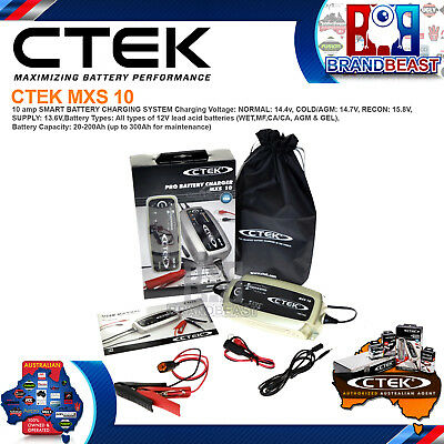 Ctek Mxs 10 Amp Smart Battery Charger 12v Car Caravan Rv Boat Marine Agm Mxs10