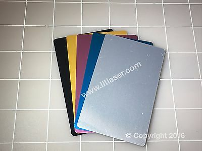 **NEW** Blank metal business cards 100pcs Laser engraveable THICK **NEW**