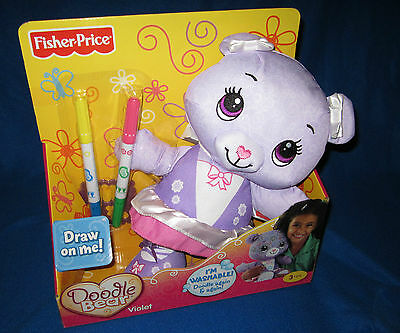Fisher Price Doodle Bear Purple Violet New