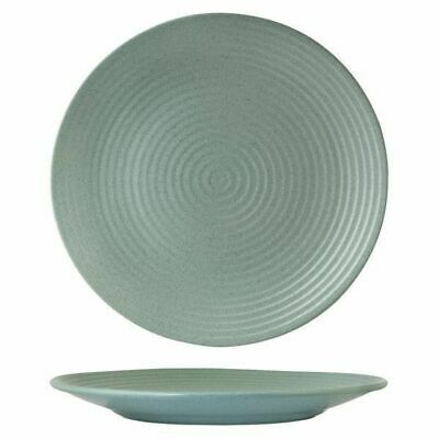 6x Coupe Plate, Ribbed, 210mm, Zuma 'Mint' Green, Commercial Crockery / Cafe