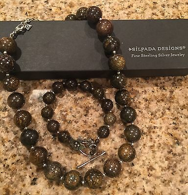 NEW Silpada Lot Bronzite Necklace And Bracelet Set NWOT B1365 And N1382 Retired