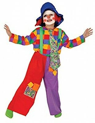 Dress Up America Toddler T2 Colourful Clown Costume Set
