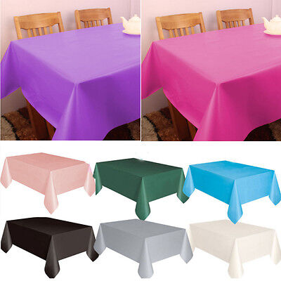 Plastic Square Covers Cloths Table Cover Cloth Wipe Clean Party Tablecloth New