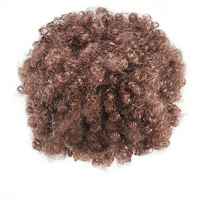 Unisex Funky Afro - AduFancy Dress Wig Brown T8