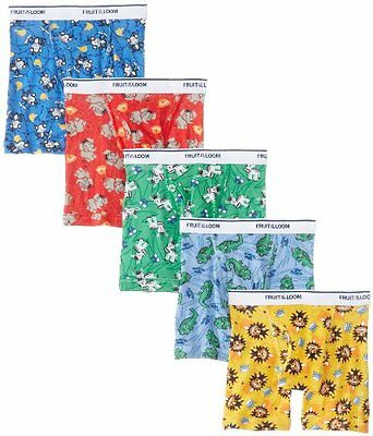 Fruit Of The Loom Little Boys' Boxer Brief , Multi, 4t, Assorted(pack Of 5)