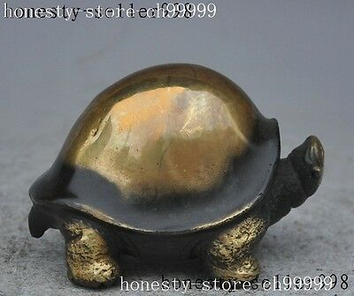 china folk fengshui bronze copper animal Tortoise Turtle Longevity lucky statue