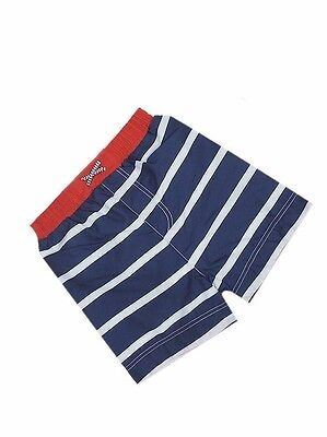 "Baby Boys ""ex M&s"" Blue/white Stripes Swimming Shorts Trunks Swimwear Swim"