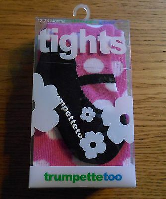 *TRUMPETTE TOO* 2 X PAIR Girls Super Soft Stretch Cotton Mix TIGHTS 2-4 Years