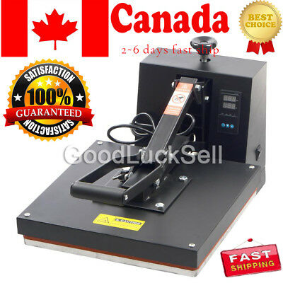 "New Heat Press Transfer Digital Clamshell 15""x15"" T-Shirt Sublimation Machine CA"