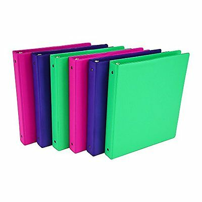 Samsill 6-Pack 1-Inch Assorted Colors Office School 3-Ring Storage Binder